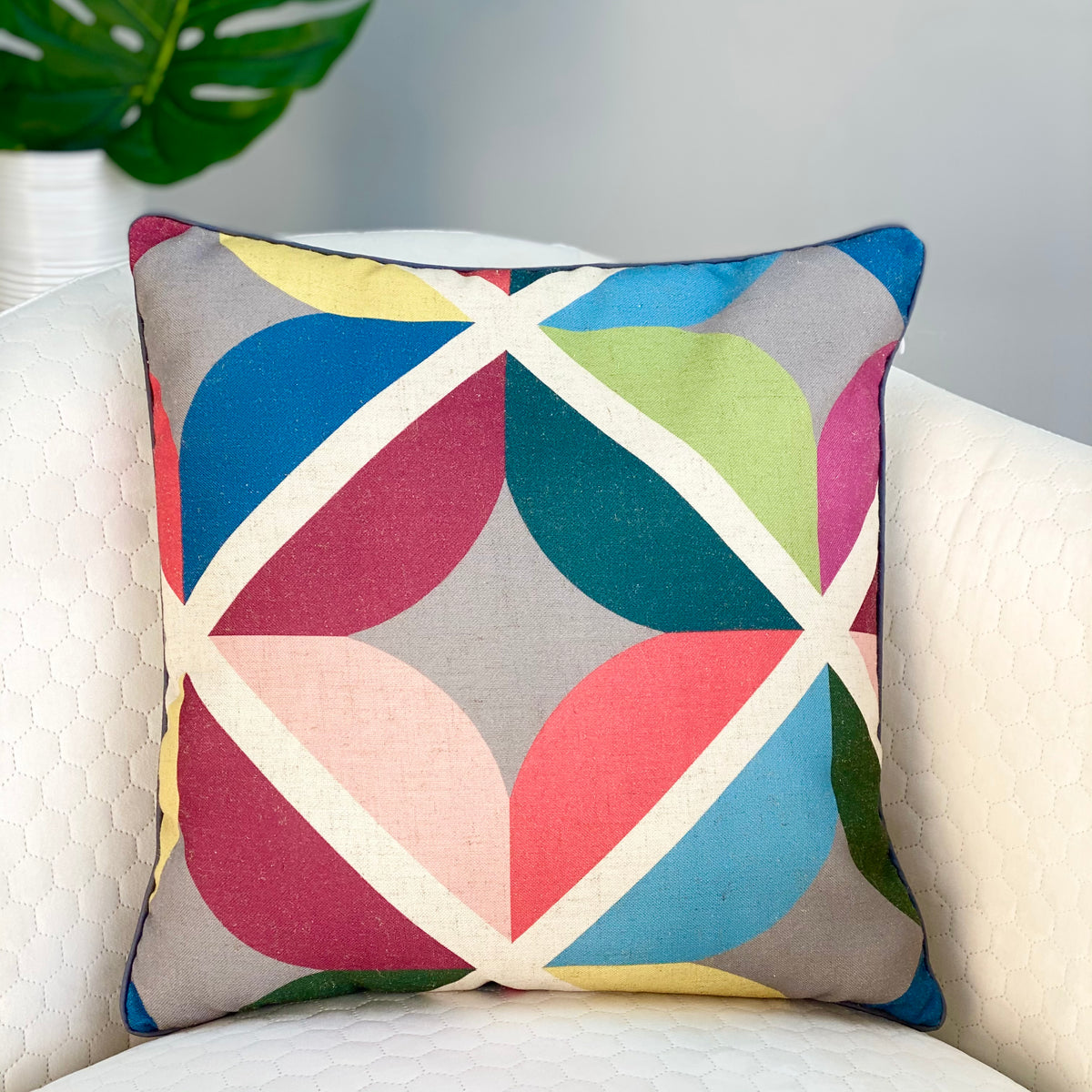 Aesthetic Colorful Leaves Pillow