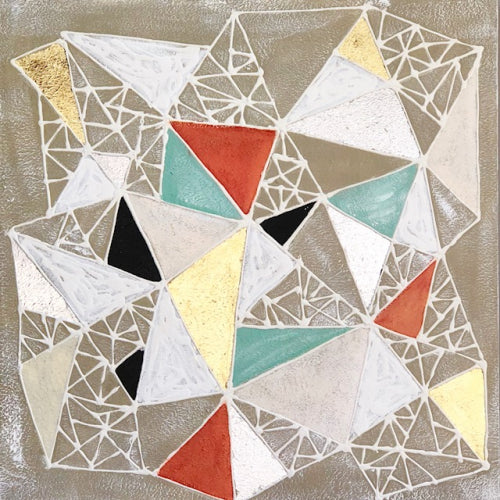 Triangle Abstract Neutral Canvas Art