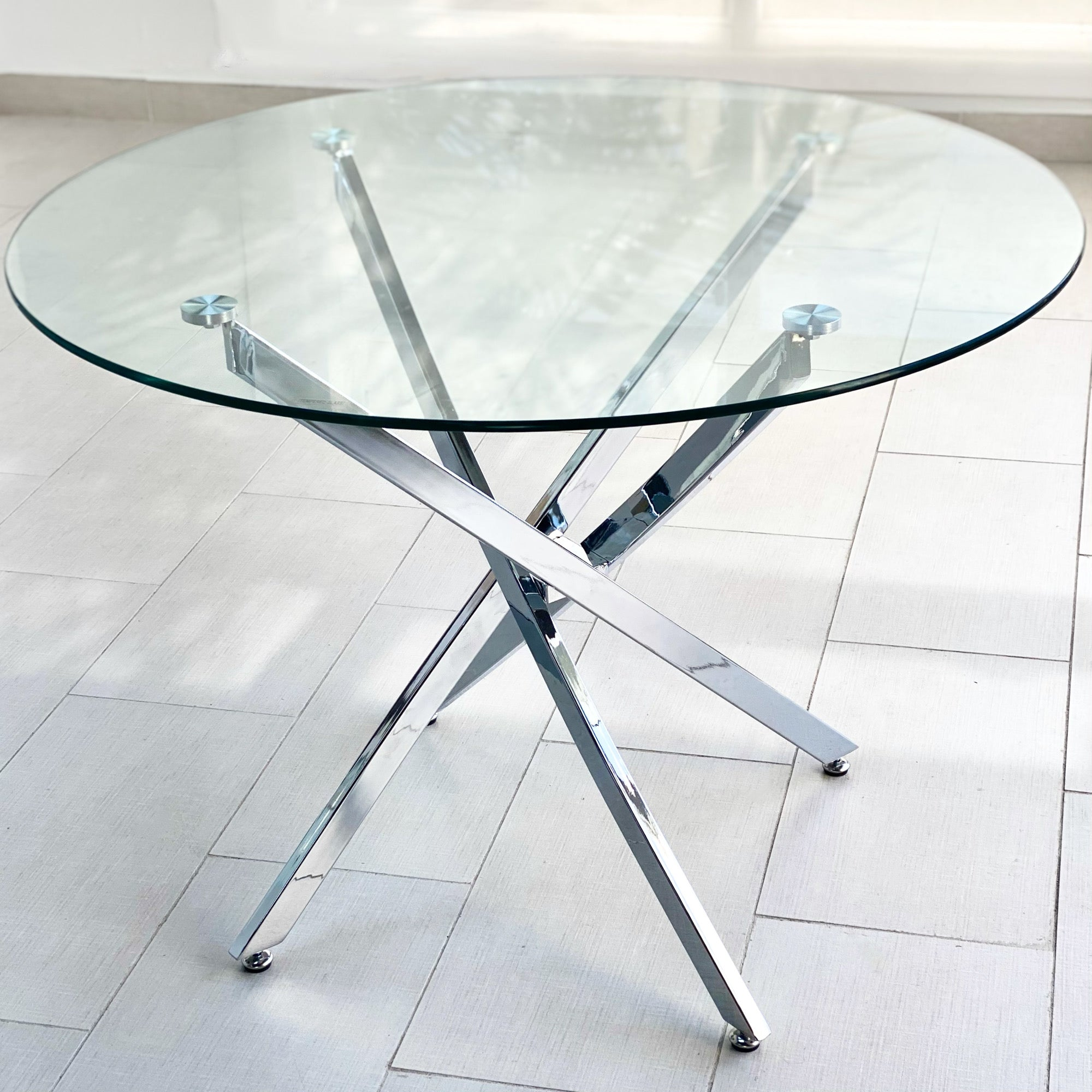 Imperial Round Glass Top Table