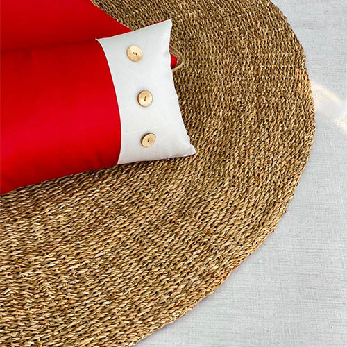 Wicker Round Floor Mat