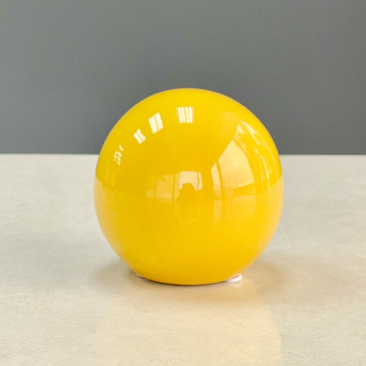 Riley Glossy Yellow Ceramic Ball