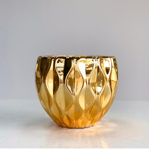 Shape Mountain Chrome Gold Vase
