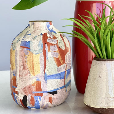 Colorful Abstract Ceramic Vase