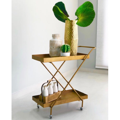 Esiquio Luxury Metallic Serving Cart