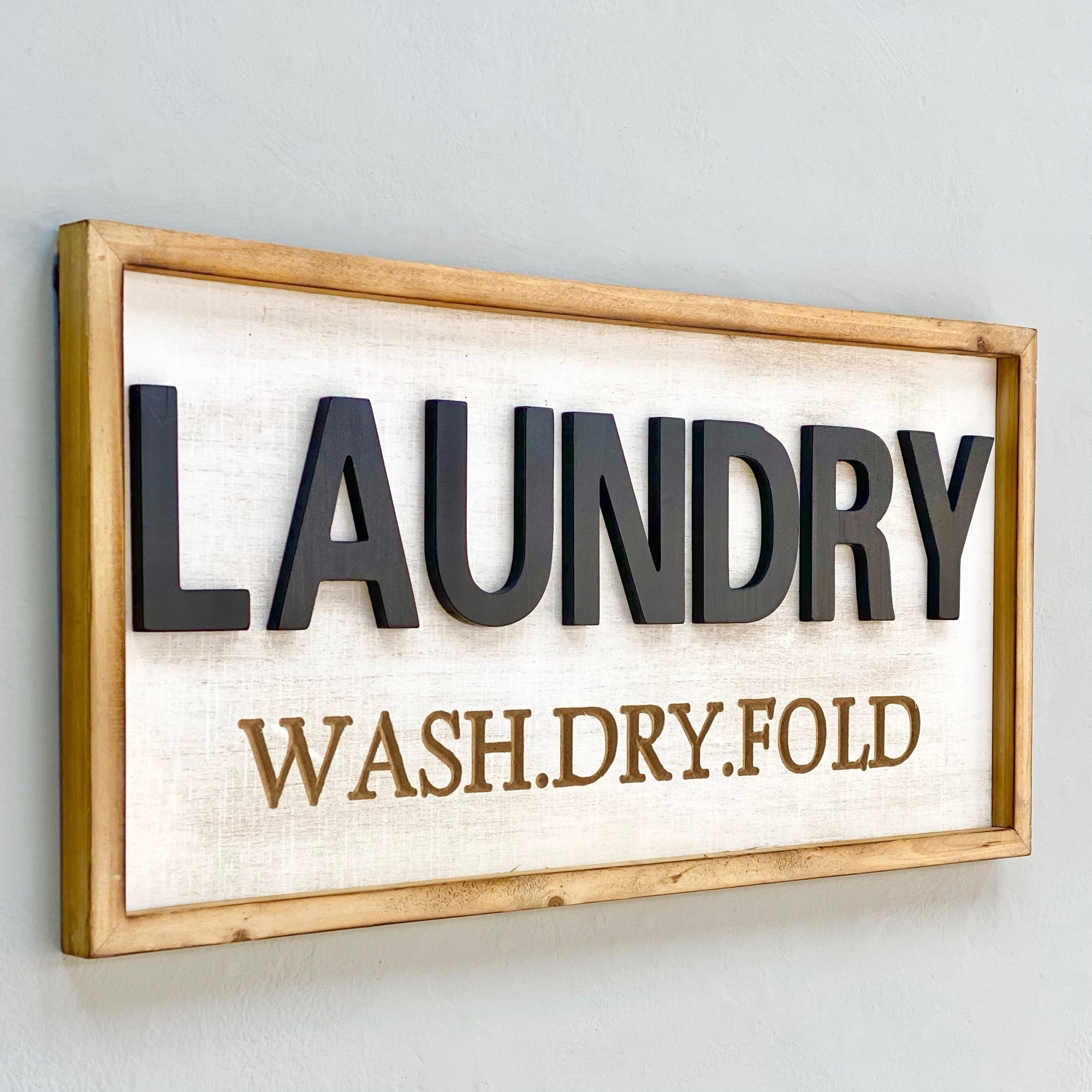 Laundry Bold Word Wooden Wall Art