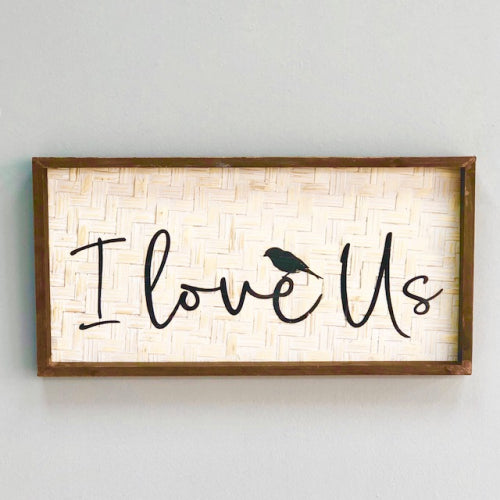"Rectangle ""Love"" Wooden Wall Art"
