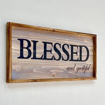 "Wood Wall Art  ""Blessed"""