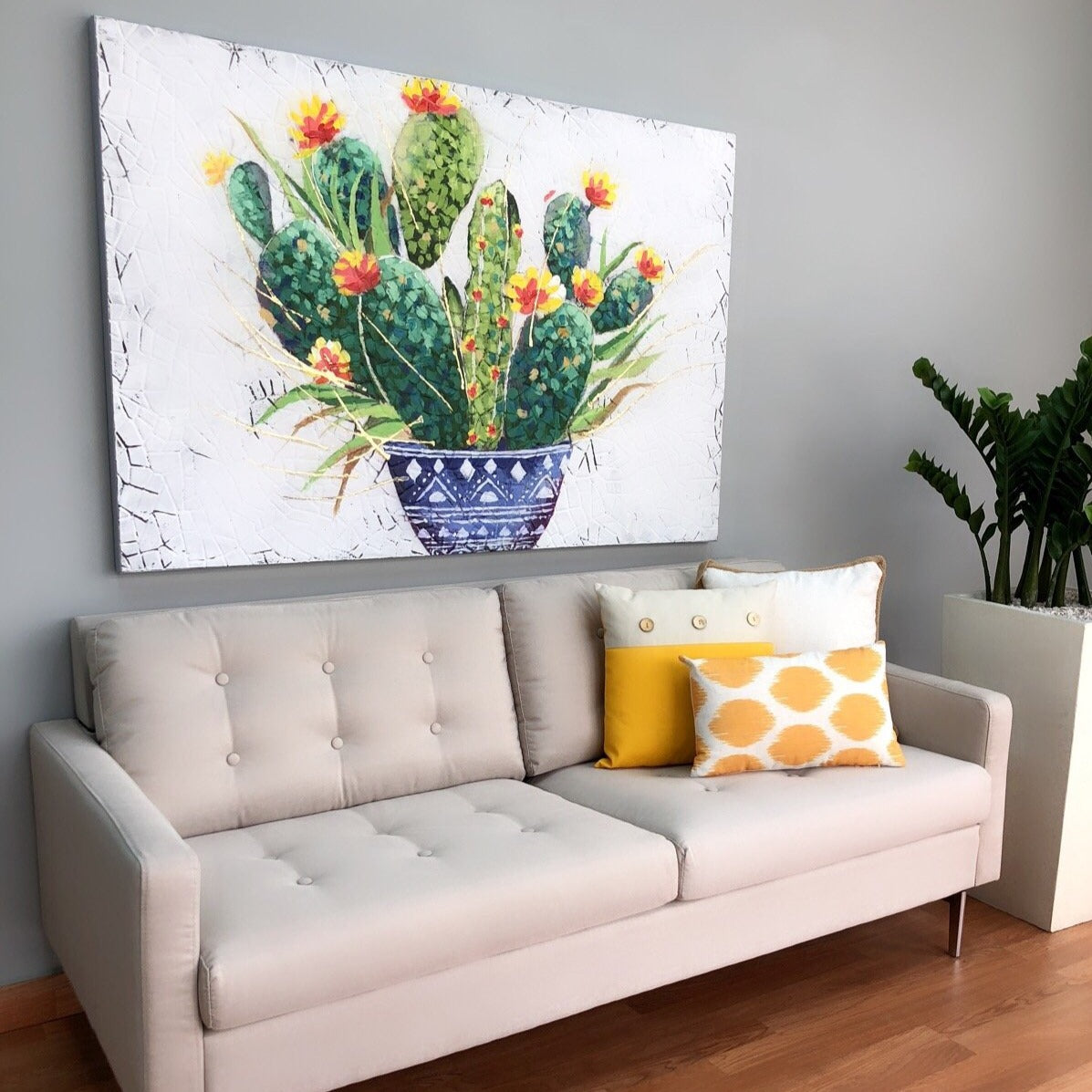 Oleo Square Cactus Canvas Art