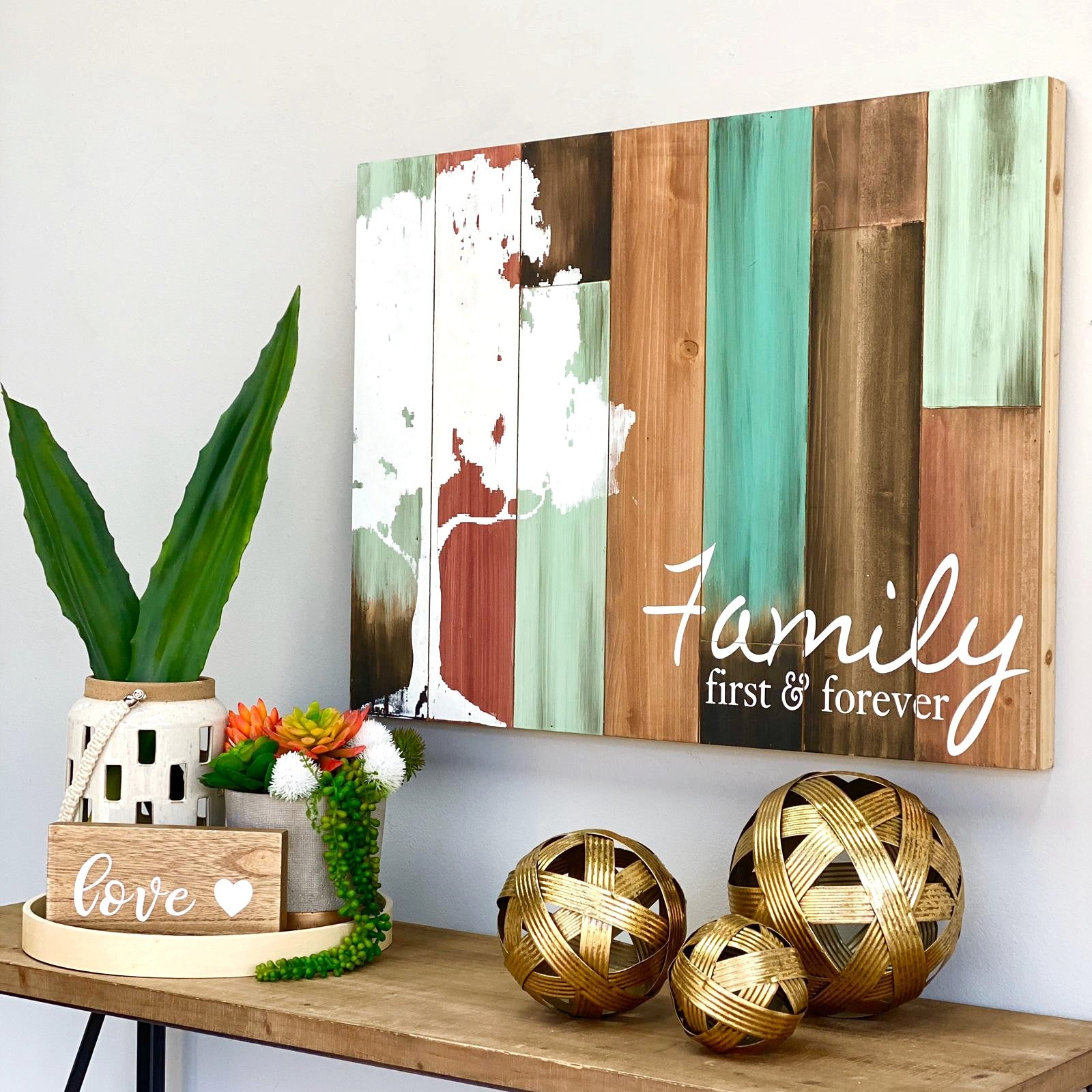 Square Tables Family Wall Art
