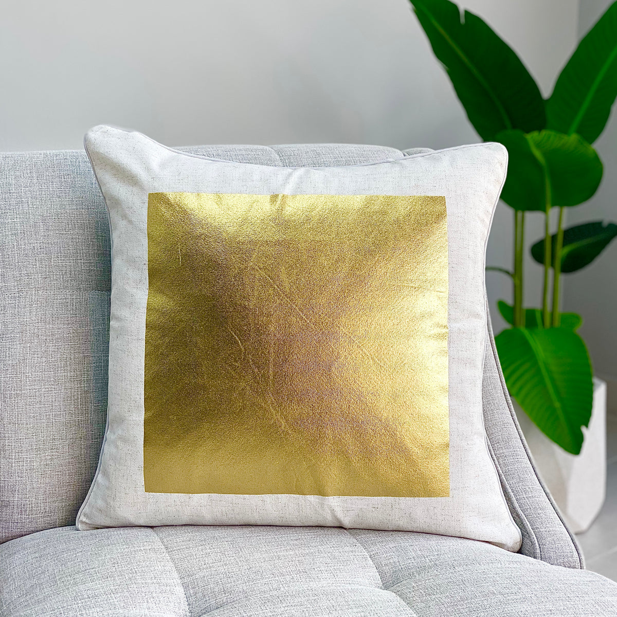 Big Gold Square Pillow