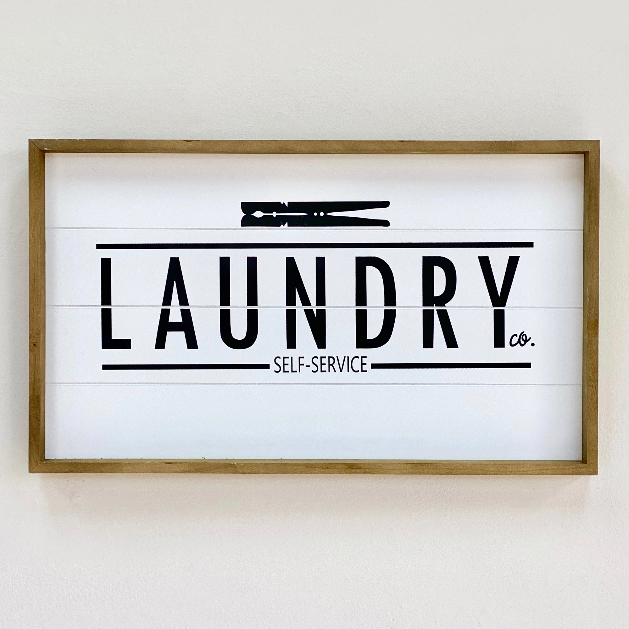 Wood Wall Art  Laundry Self Service