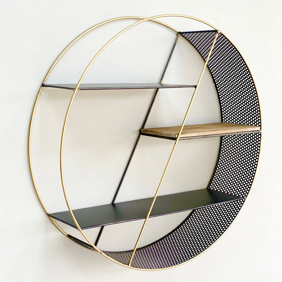 Perforated Round Wall Shelf