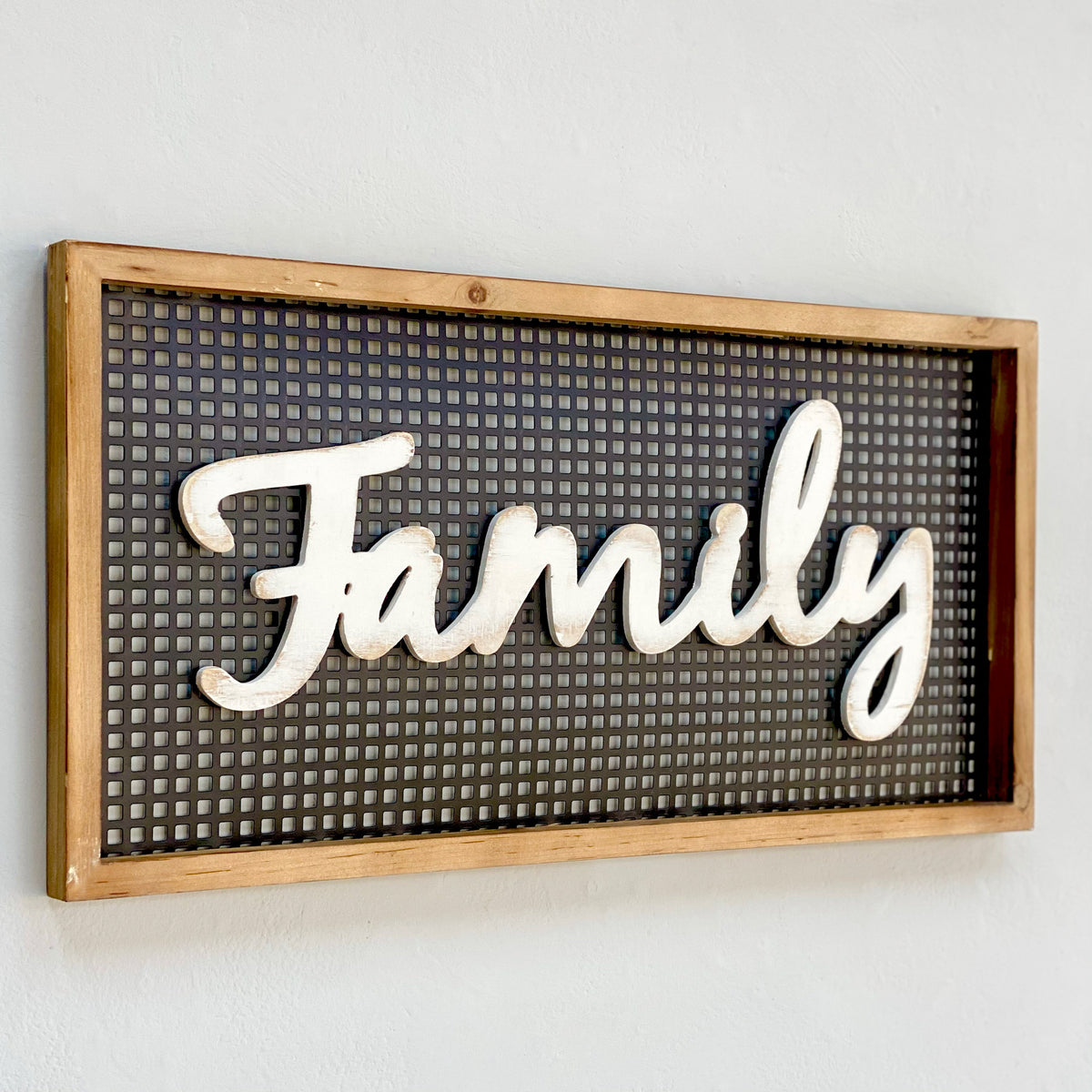 Perforated Family Wooden Wall Art