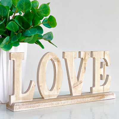 "Table Top  Wood  ""Love"""