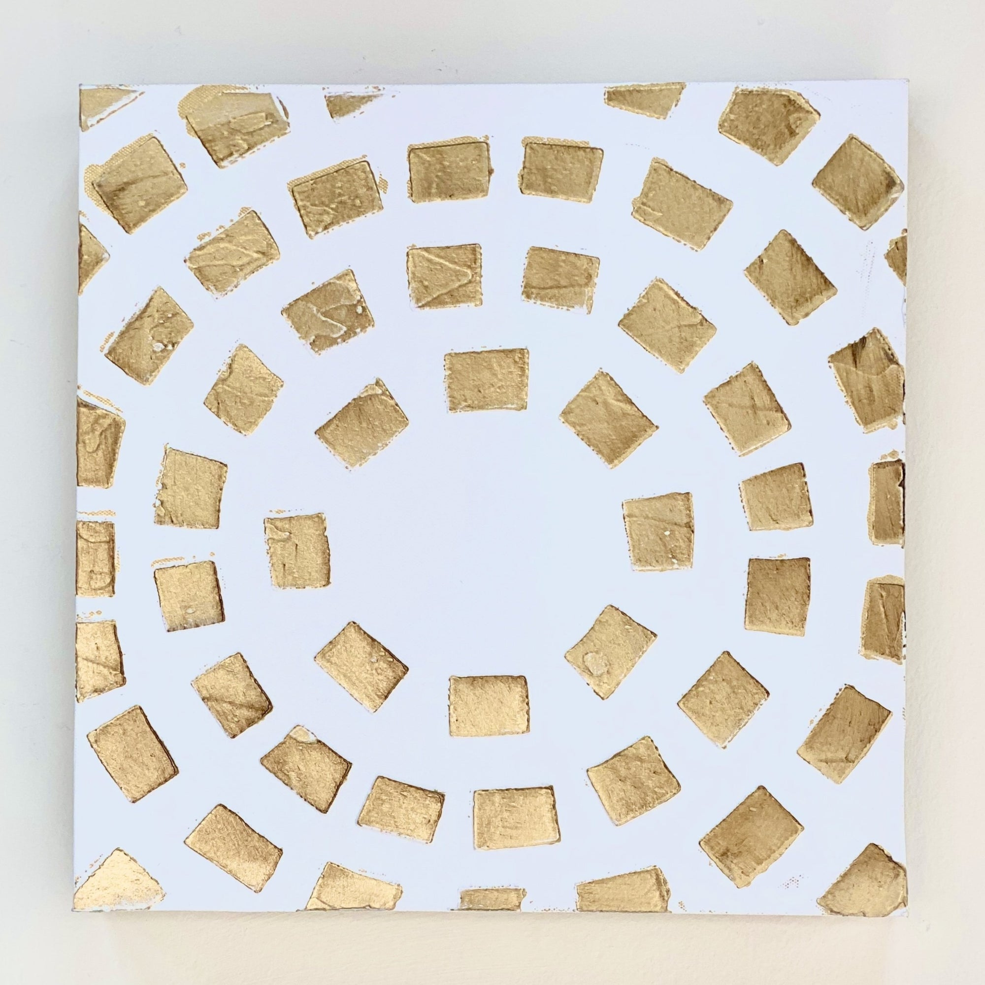 Gold Mosaic Canvas Wall Art