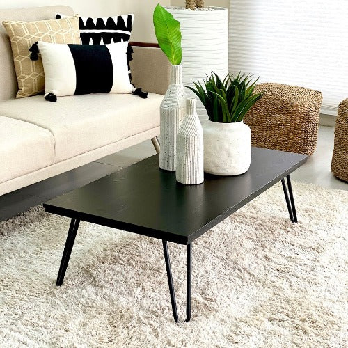 Rectangular Earhart Black Coffee Table