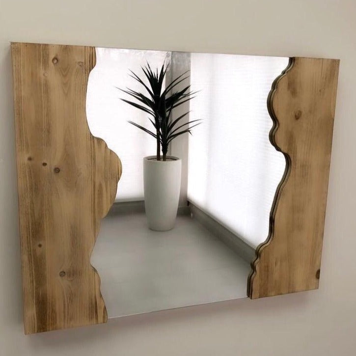 Gabrielle Natural Rustic Wall Wooden Mirror