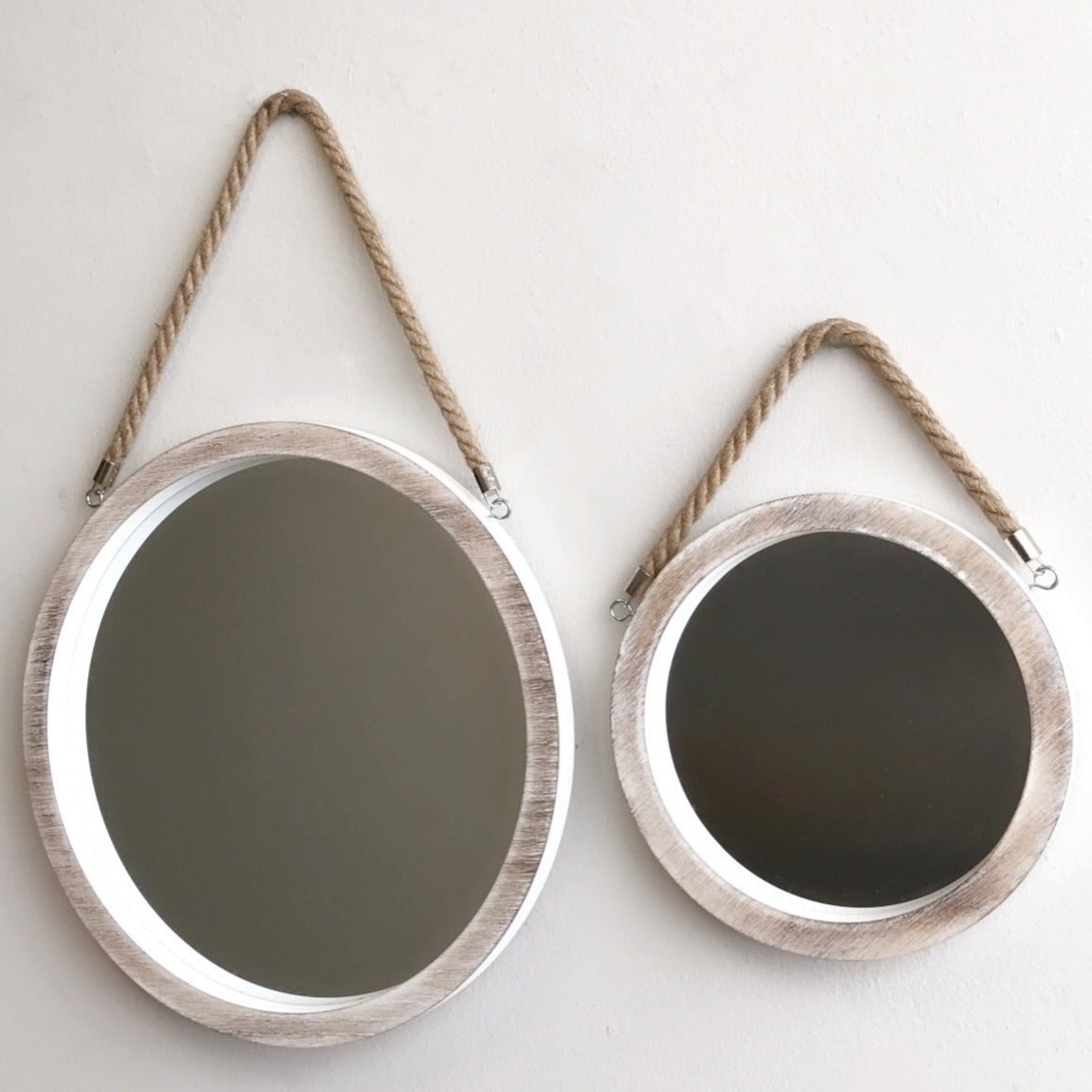 Hanging Rope Mirror Set of Two