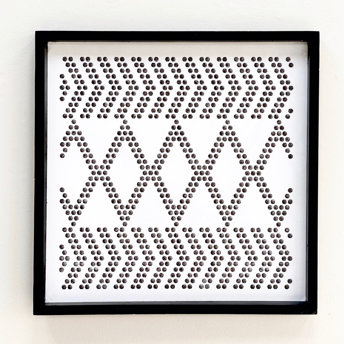 Perforated Mix Diamond Metal Wall Art