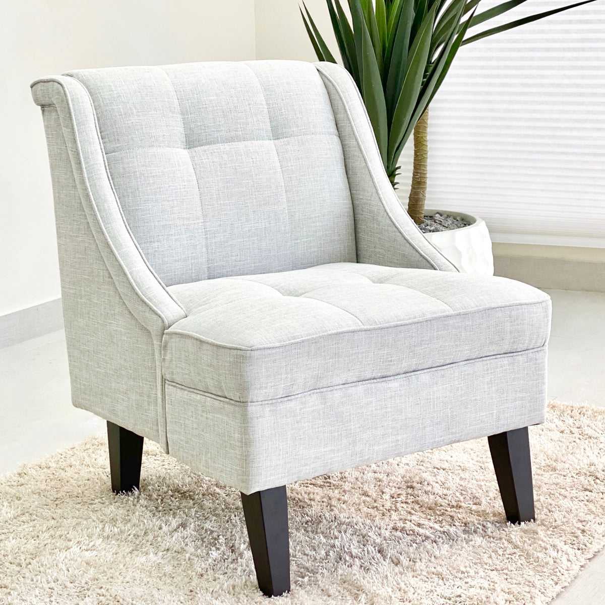 Catalina  Accent Light Gray Fabric Chair