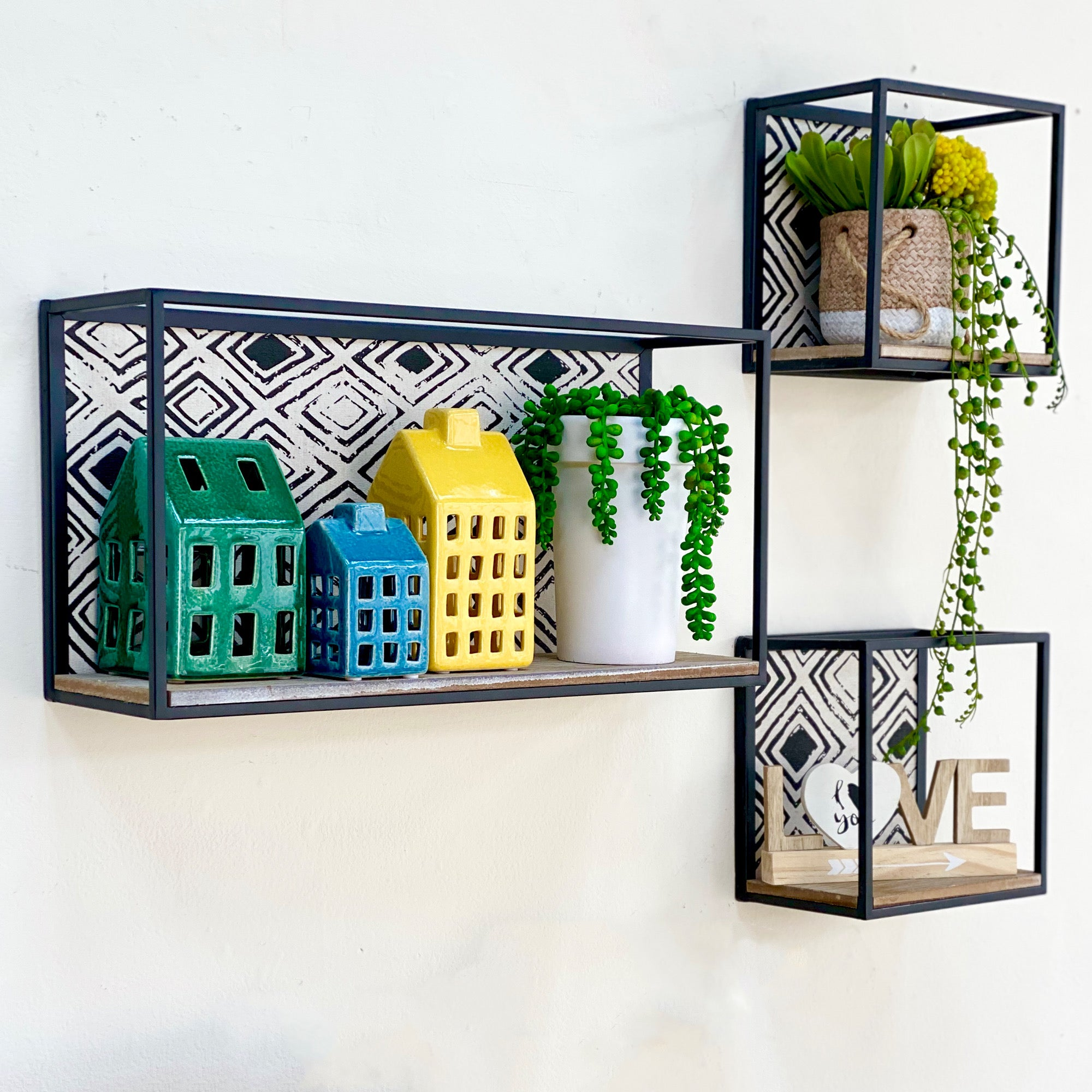 Ethnic Printed Shelves Set of 3