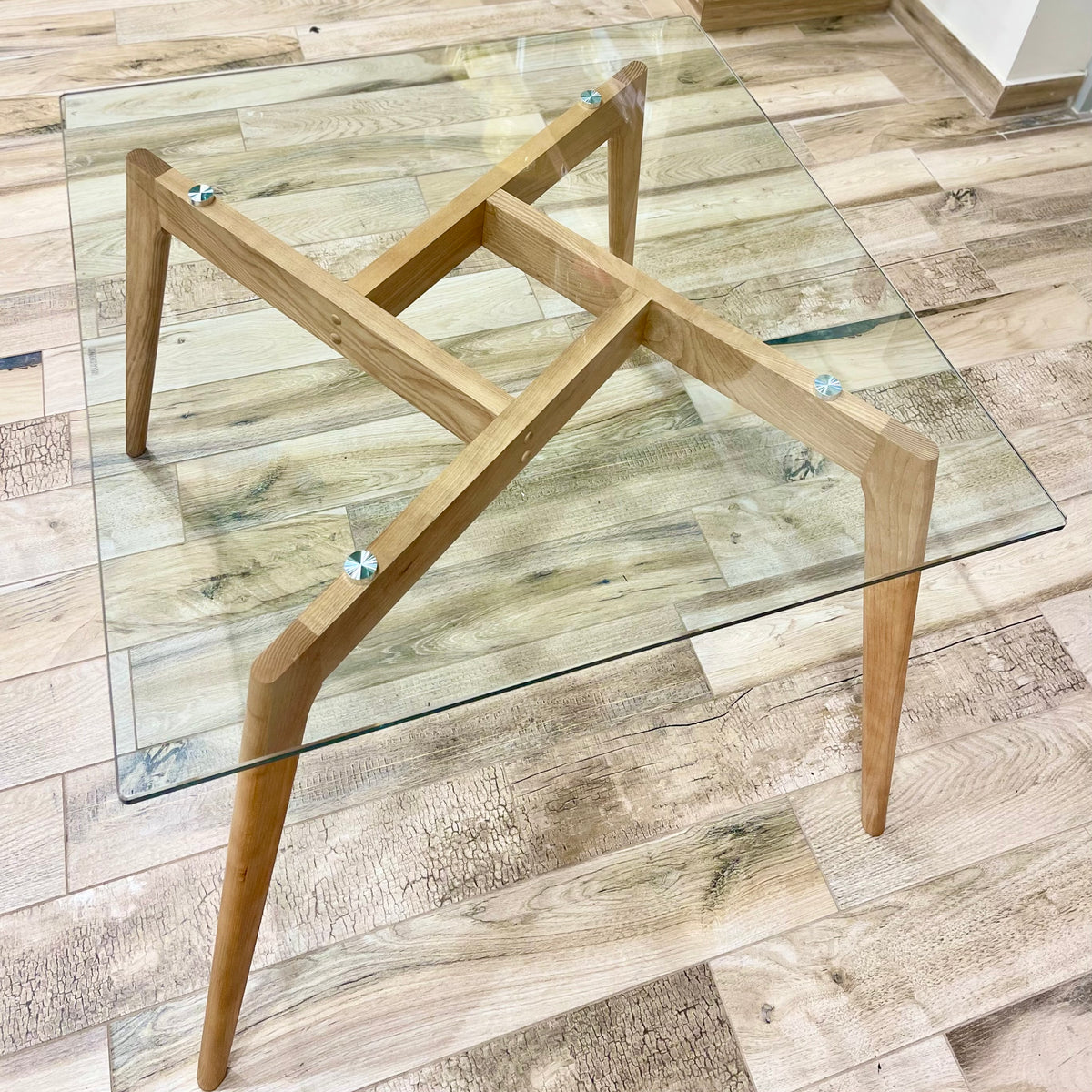 Barcelona Square Wood Dining Table