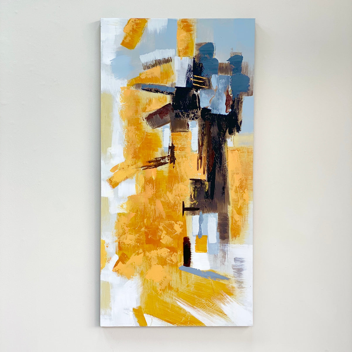 Yellow Abstract Canvas Wall Art