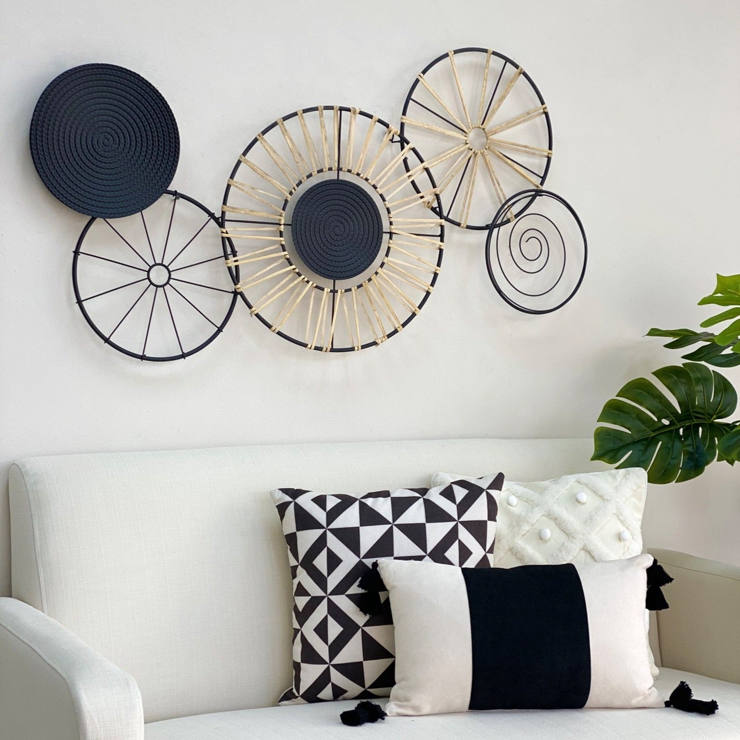 Savana Metal and Rattan Wall Art
