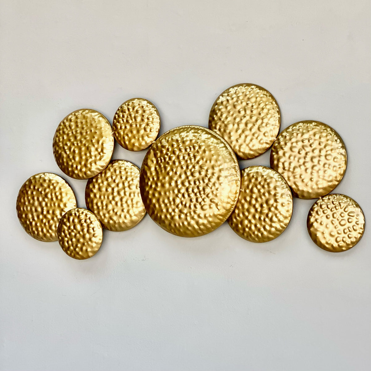 Golden Circles Metal Wall Art