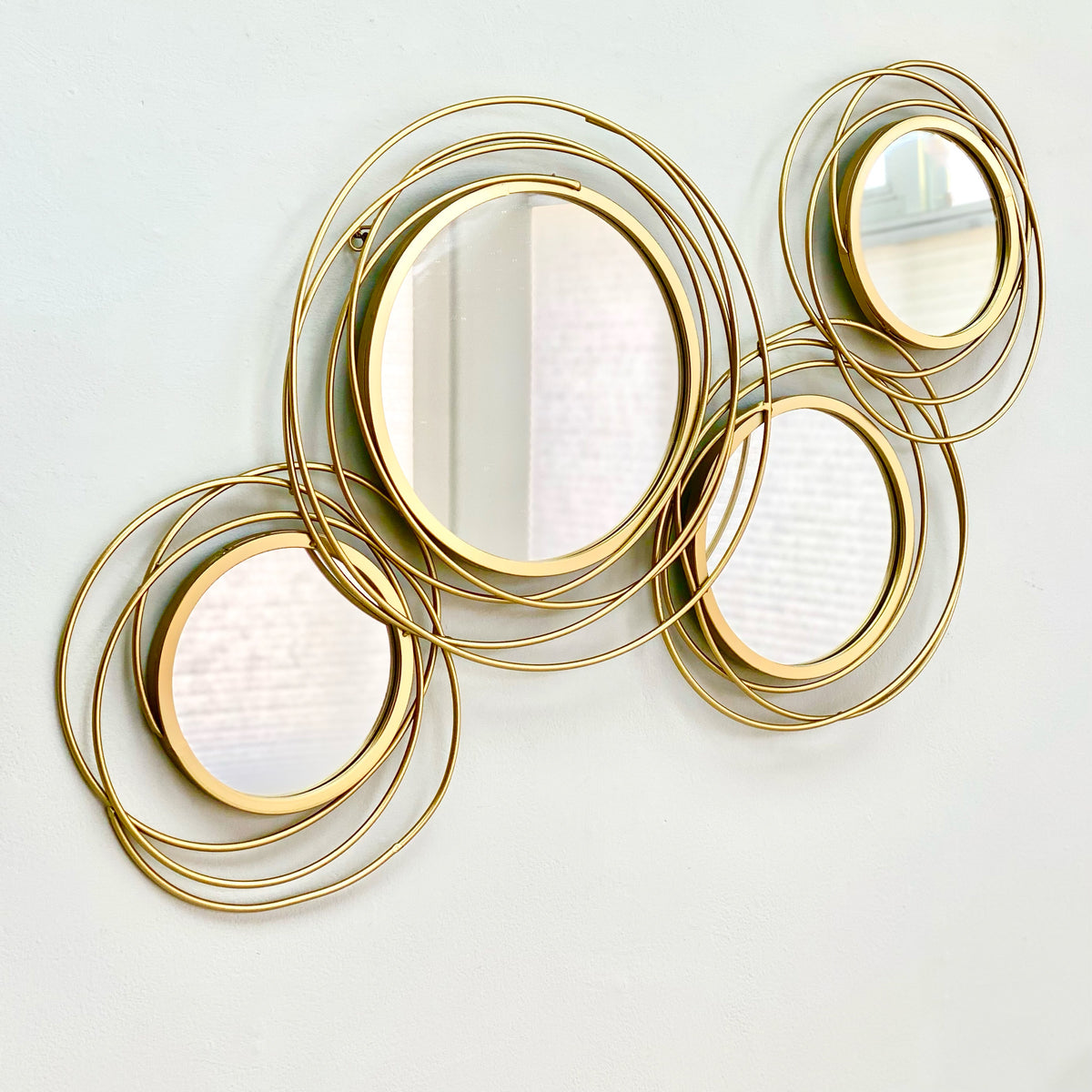 Gold Spiral Mirror Wall Decor