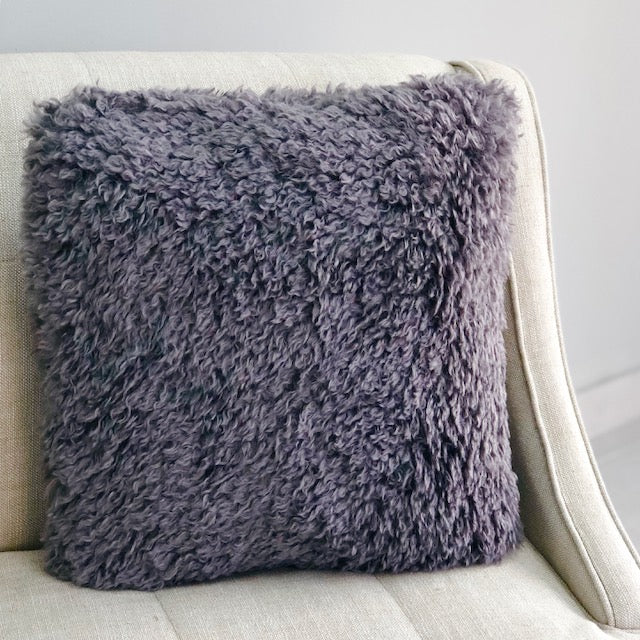 Cozy Gray Plush Pillow