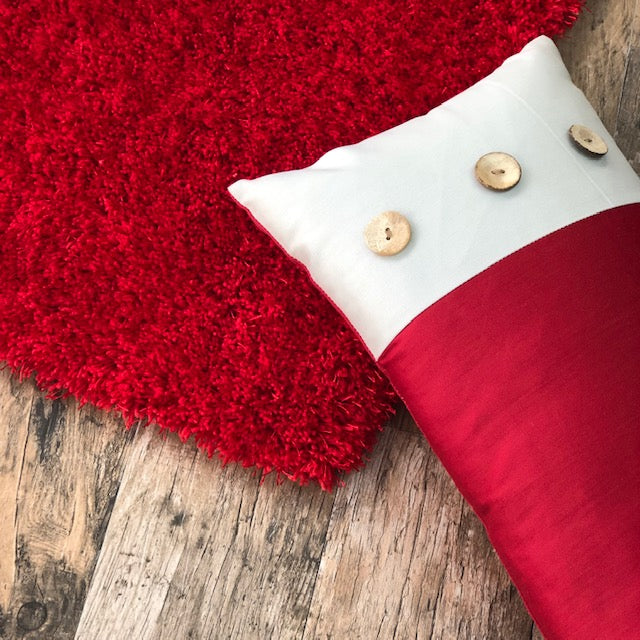 Express Red 3' x 5' Shaggy Rug
