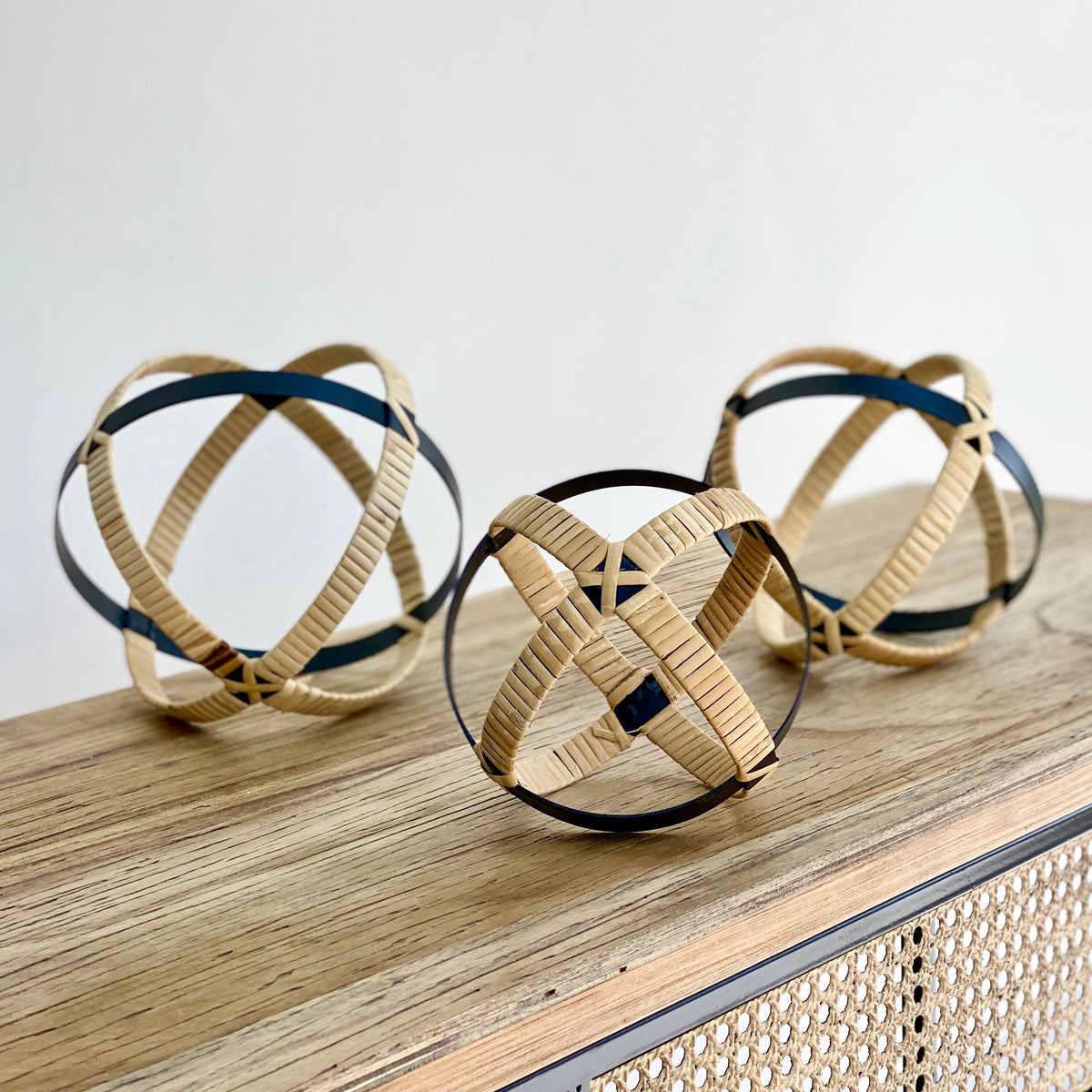 Rattan Balls Set of Three