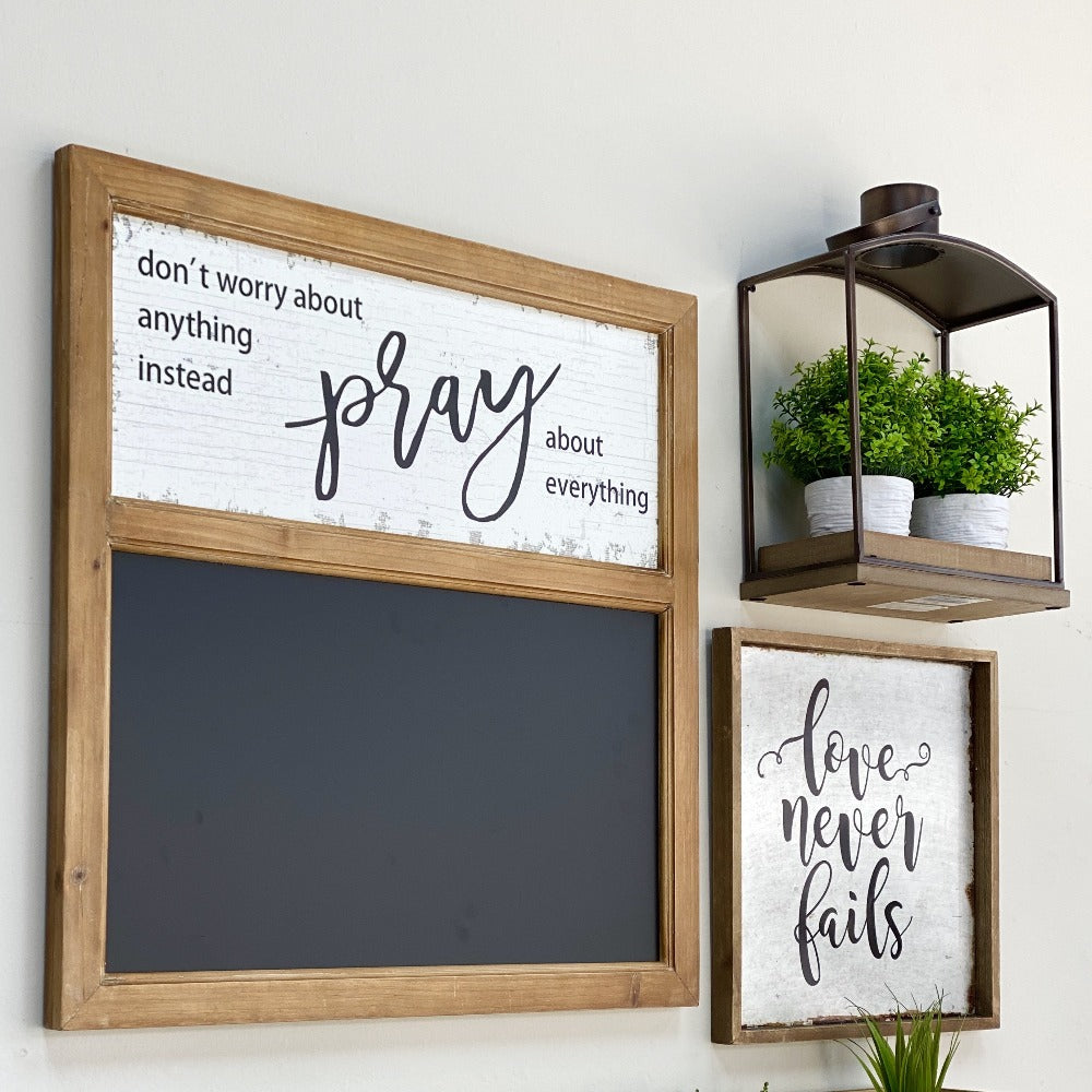 Pray Wooden Blackboard Wall Decor