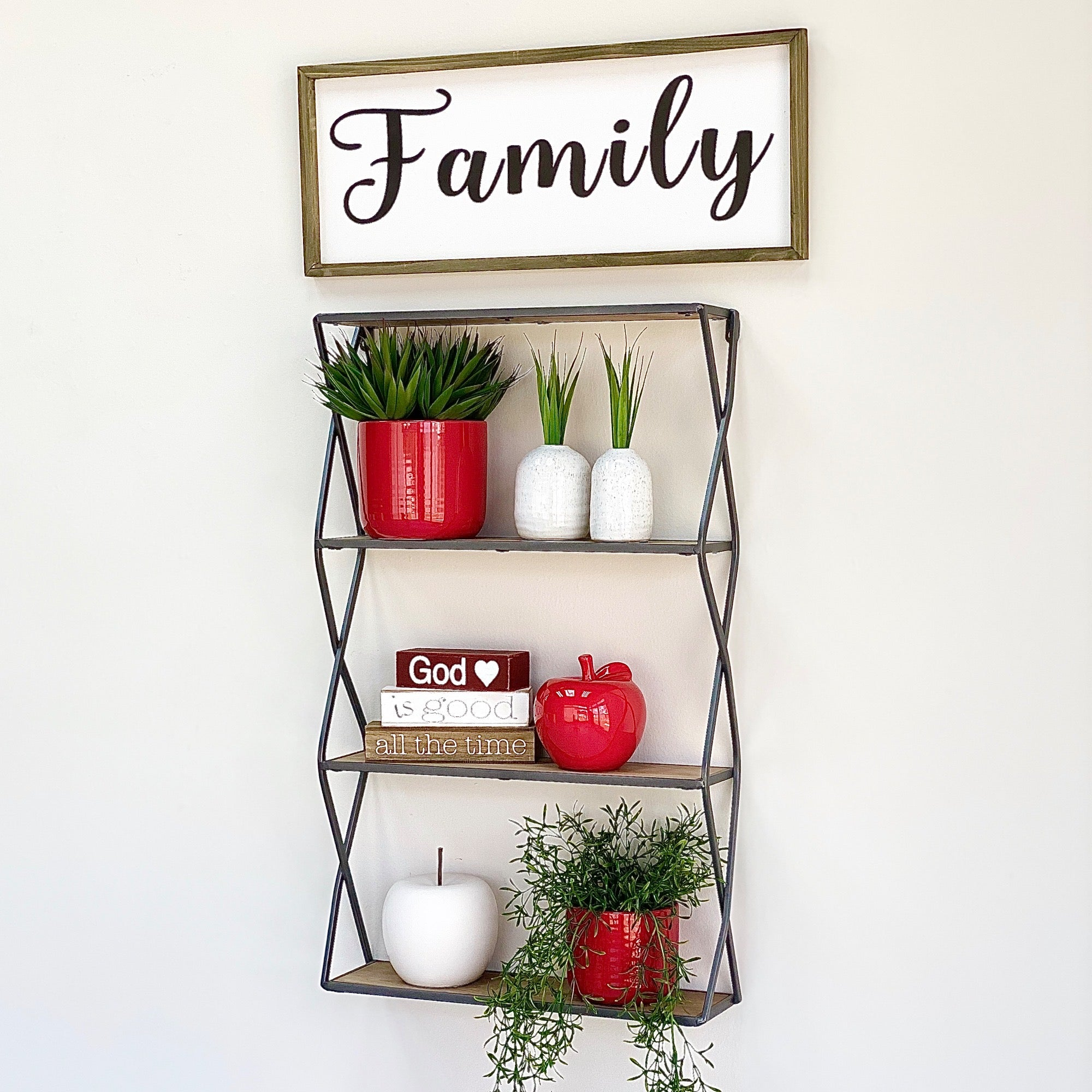 Metal Rectangle Wall Shelf