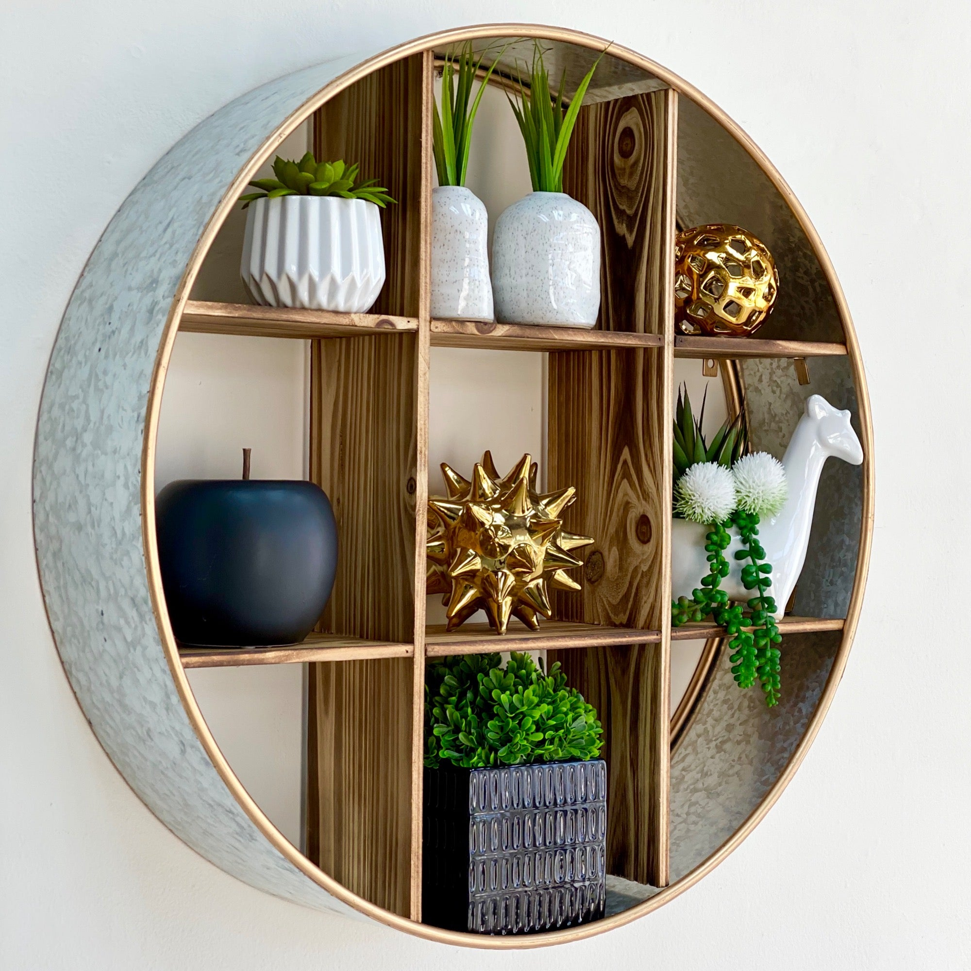Metal Round Wall Shelf