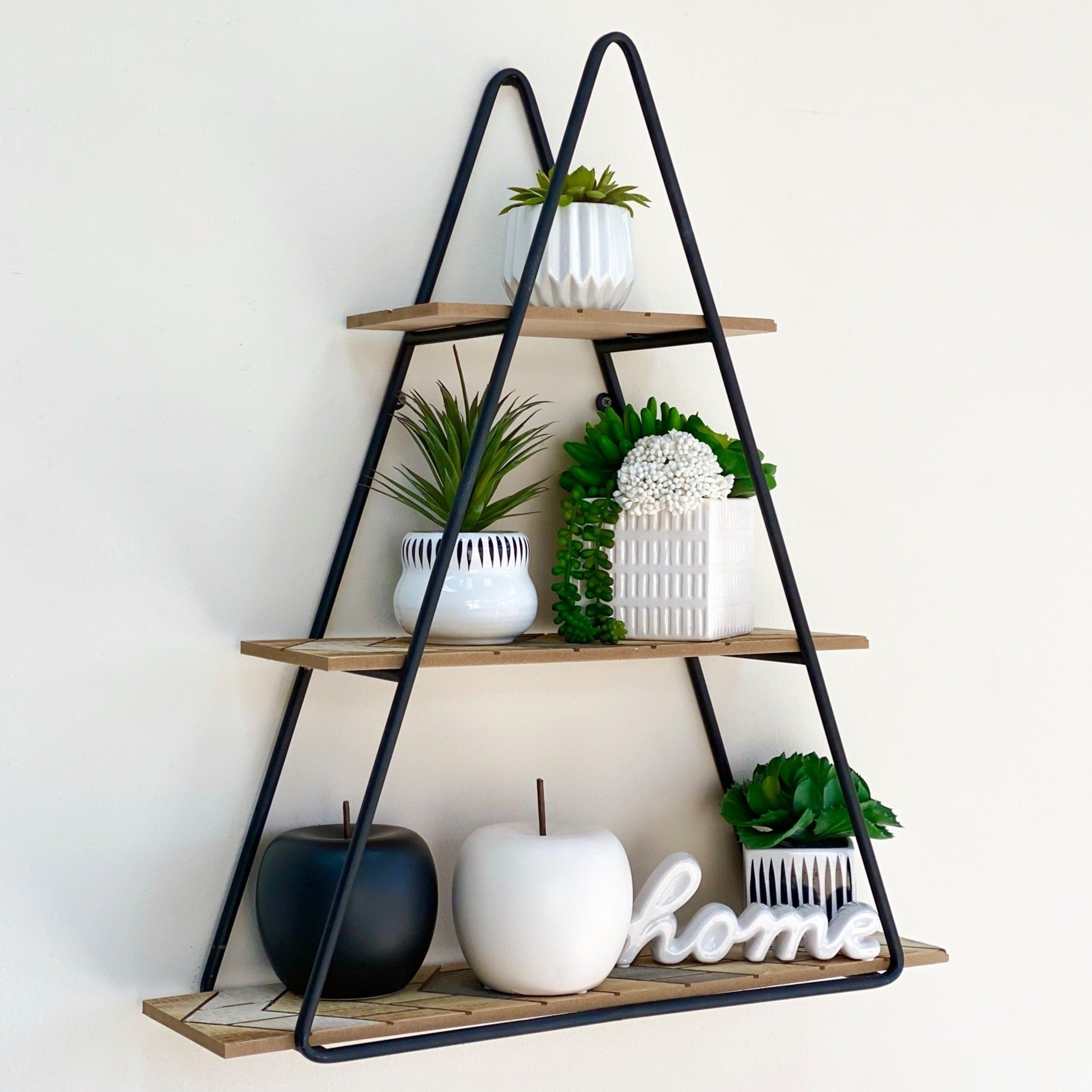 Metal Triangle Wall Shelf