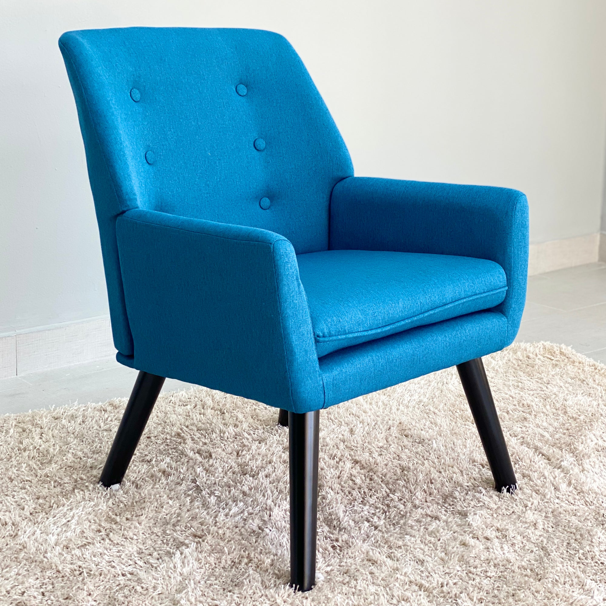 Victoria Blue Fabric Chair