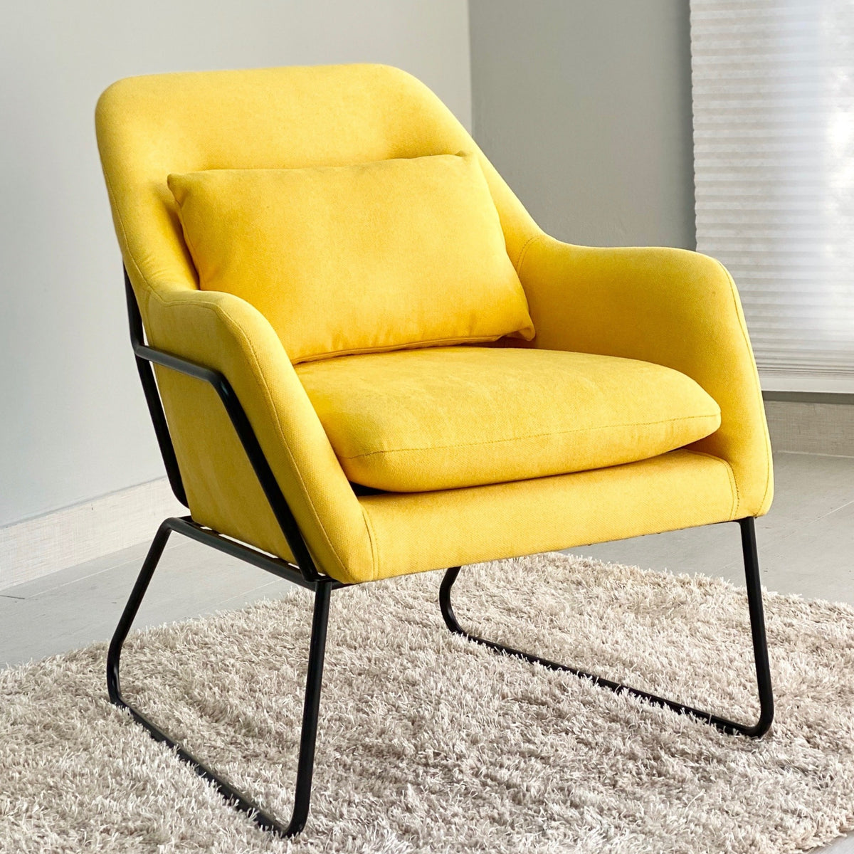 Framed Laurent Yellow Chair