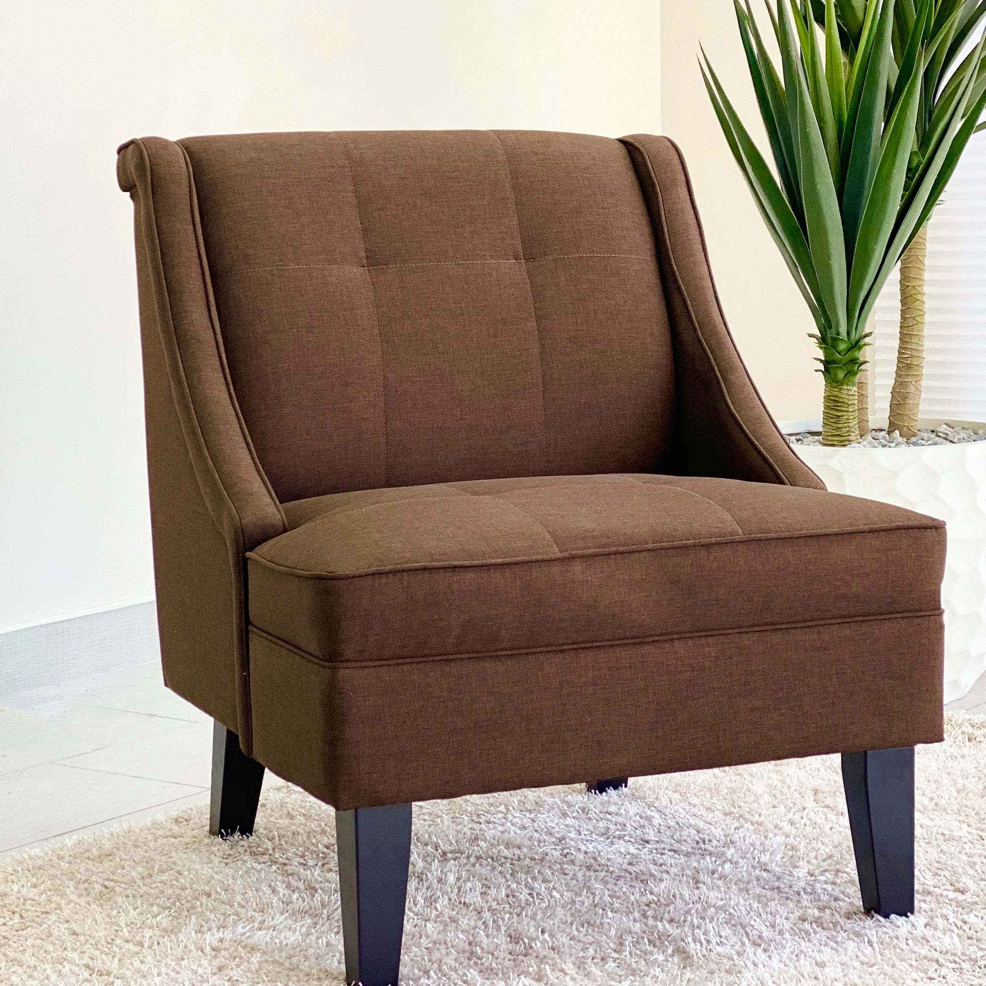 Catalina  Accent Brown Fabric Chair