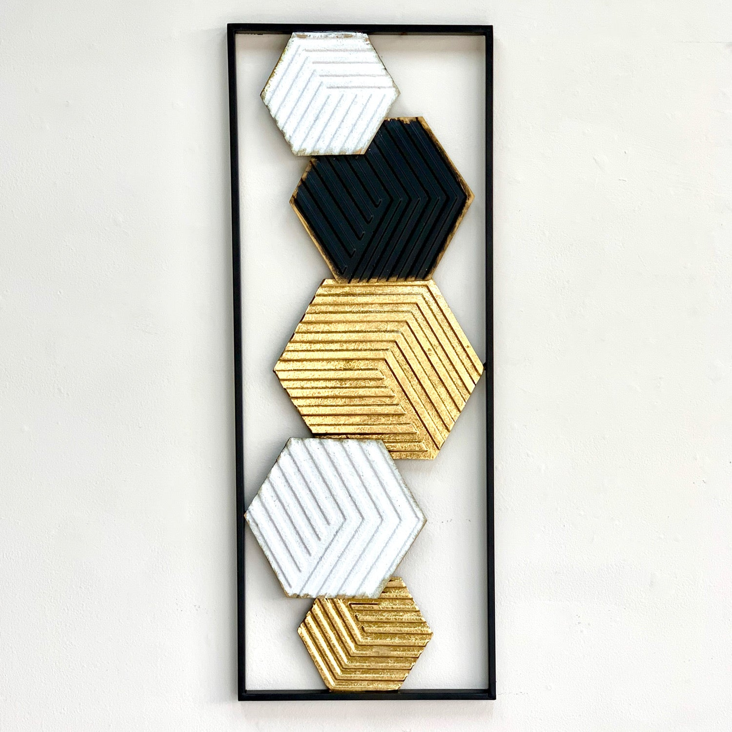 Multi Hexagon Metal Wall Art