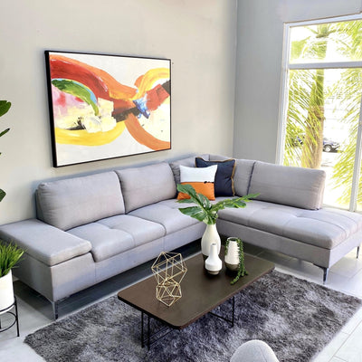 Gray Corner Sofa Right