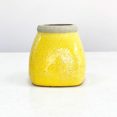 Tyrone Yellow Cracked Vase