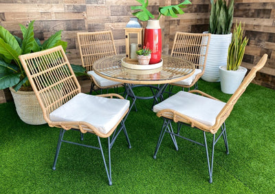Outdoor Round Dining Table Set