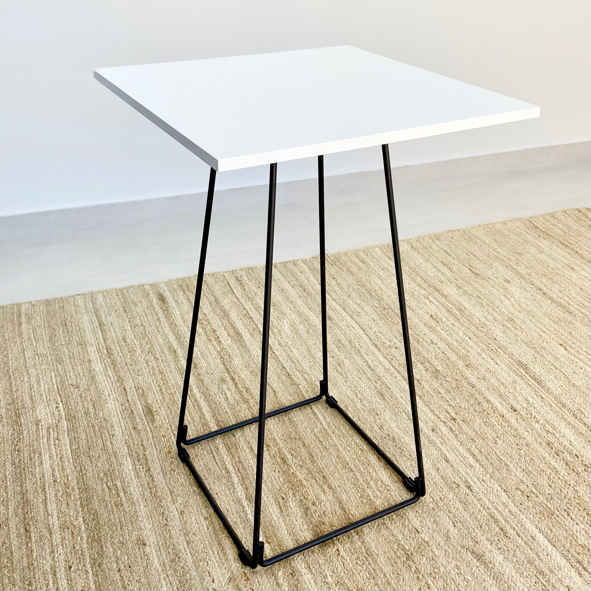 Adalis White Lacquer Top Bar Table