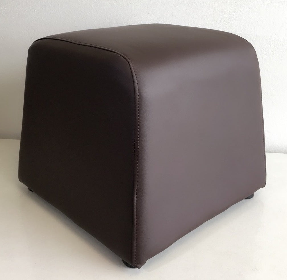 Ottoman Brown Faux Leather