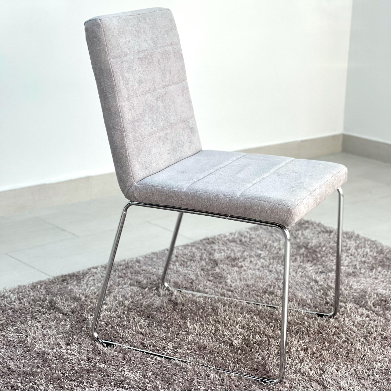 Crystal Gray Fabric Dining Chair