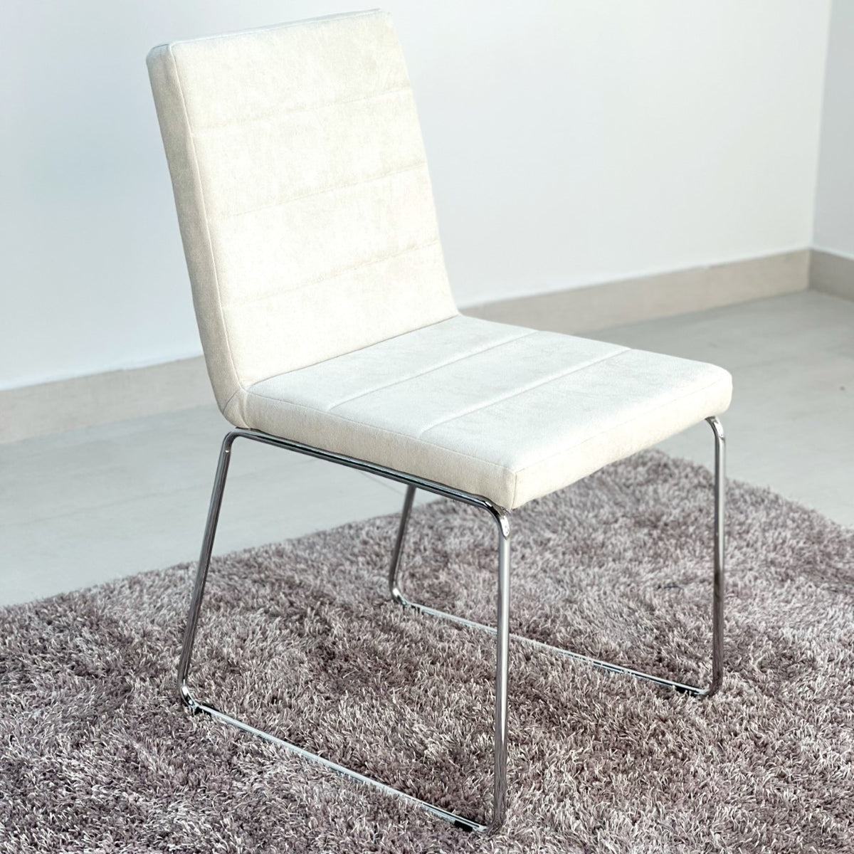 Cristal Ivory Fabric Dinning Chair