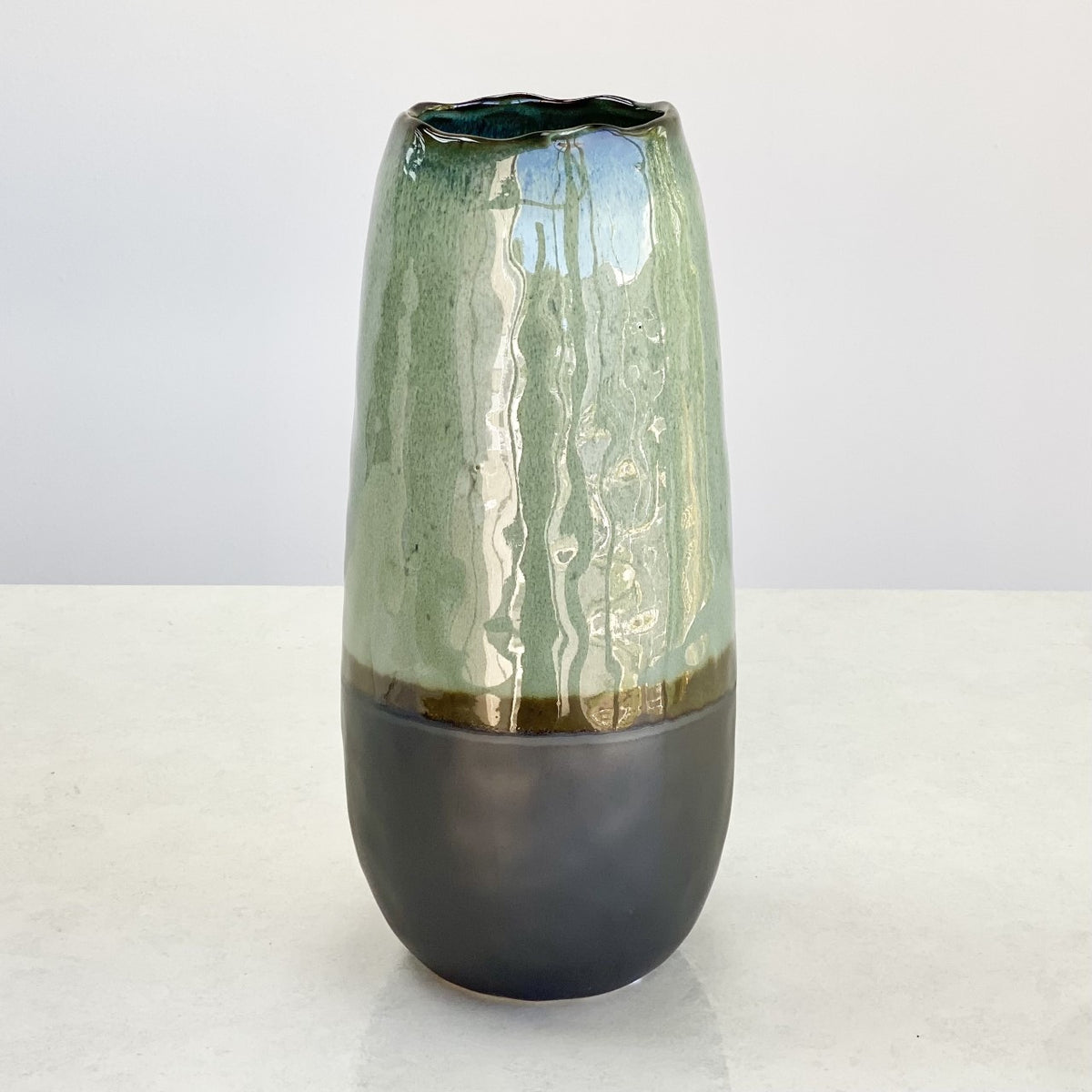 Aquamarine Caramic Vase