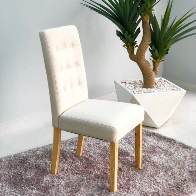 Aitor Ivory Natural Legs Dinning Chair